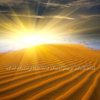 Sunrise desert scenery wall mural artist for Saudi Arabian(BH2100)