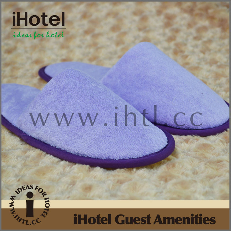 2013 High Quality Disposable Purple Closed Slippers Indoor