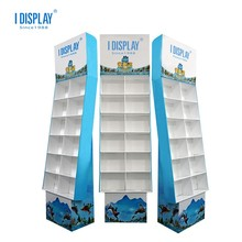 Recyclable Easy Assemble Cardboard display supermarket Floor cardboard display <strong>shelf</strong>