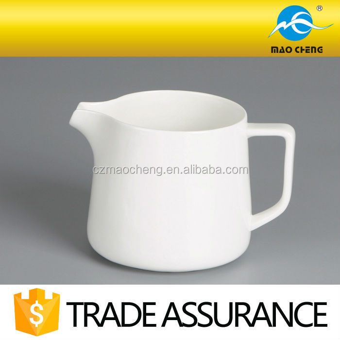 domestic white ceramic gravy boat