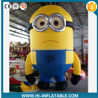 Cheap Advertising Inflatable Minion Model/ inflatable moving cartoon/mascot
