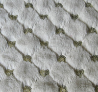 sparkle heart design soft plush fabric ornament for upholstery garments