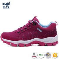 HF-X046 Wholesale non slip outdoor sports waterproof hiking shoes women