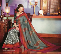 New Bollywood Indian Designer Fancy Ethnic Wear Casual Functional Wear Saree 2015