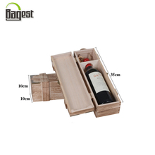 Wholesale Cheap Price Printed Gift Wooden Box Single Wine Box