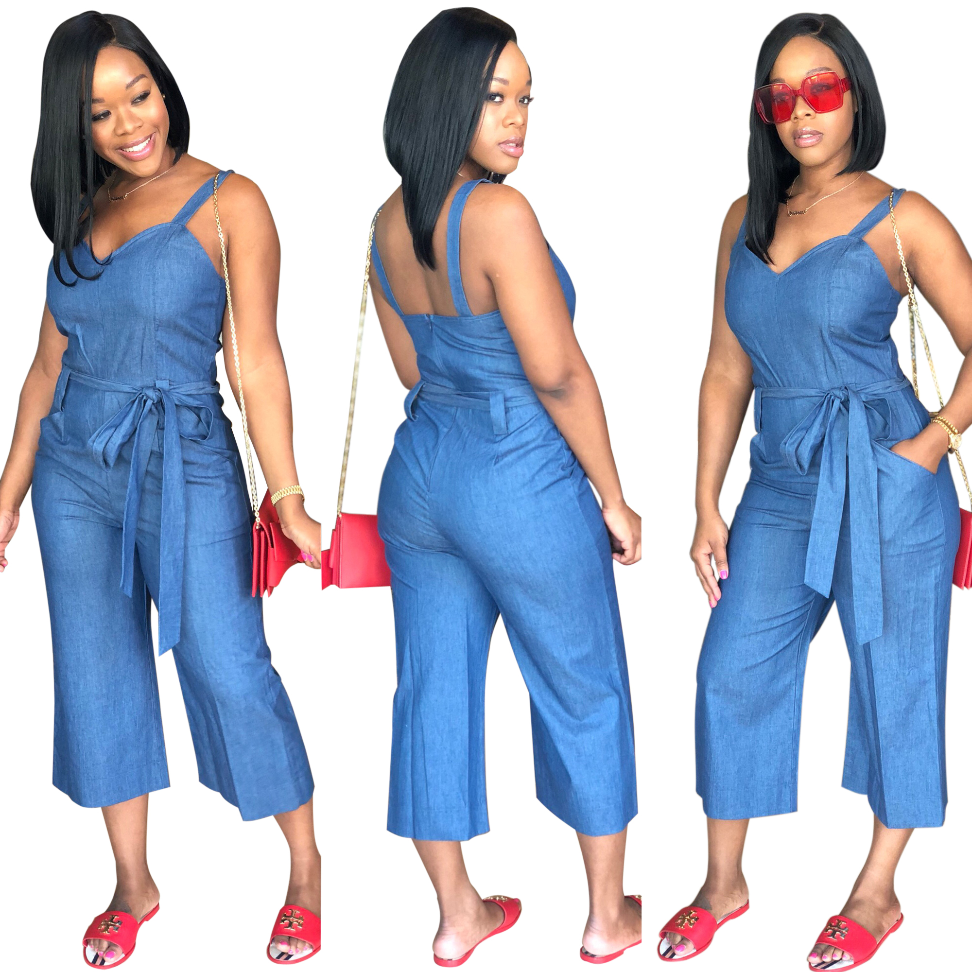 8978 strapless bandage short cowboy jeans jumpsuit denim romper womens