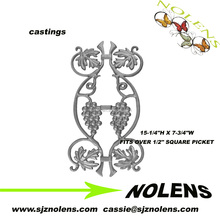 "Inch Picket Castings 15-1/4""H X 7-3/4""W/Iron Ornament Casting,Galvanized Cast Iron Pickets"