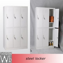 6 door cheap laminate stainless steel commercial metal used gym lockers