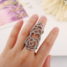 Fashion wholesale jewelry rose elastic force rings