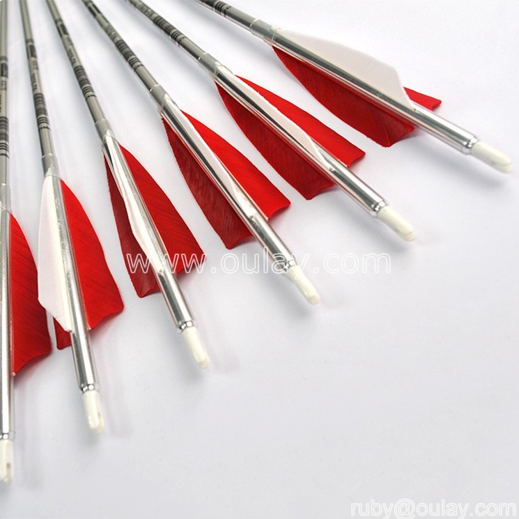 7075-T6 aluminum shafting arrows SP480 for compound bow hunting
