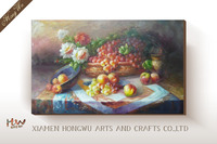 canvas fruit and 3d daisies flowers oil paintings