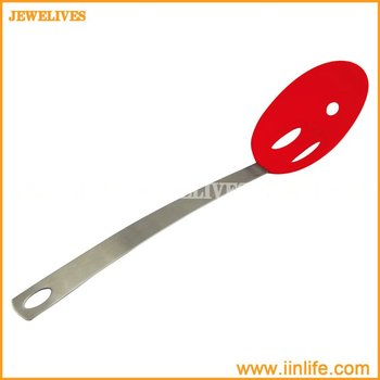 Silicone Colander/Strainer with Stainless Steel Handle