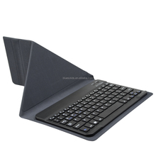 Portable tablet pc protective case, 10 inch android tablet leather keyboard cover case with chocolate keycaps