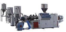 Low price conical twin screw plastic profile / granules making machine /extruder
