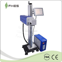 FHES Manufactory 10W/20W/30W Online CO2 Laser Marking Machine for glass wood paper Plastic