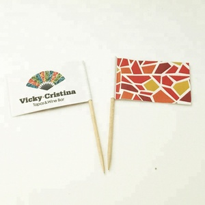 Custom Cocktail Flag Pick, Party Toothpick Flag Pack Of 100