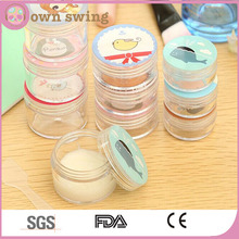High Quality Clear Plastic Cosmetic Container Jars with Cute Colorful Lids(2PCS Set)
