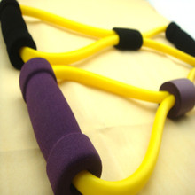 Elastic tube exercise chest expander