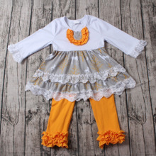 baby clothes wholesale children's boutique clothing for kids clothing baby frock design pictures matching yellow ruffle legging