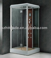 Nice square tempered glass simple dubai shower room