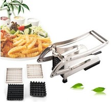 Amazon selling manual stainless steel potato strip cutter , potato chipper, french fry cutters