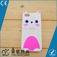 Hot Selling Protective Case Cover,cartoon 3D cat soft silicone mobile phone case for iphone 5 6,mobile phone accessories