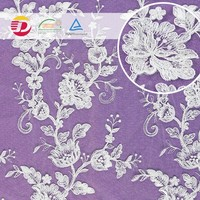 white Nylon cotton Swiss african Voile 3d floral lace fabric europe,Lace Fabric for garment