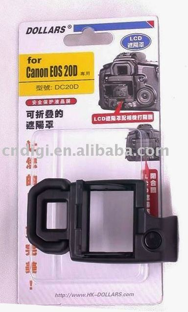 Professional Digital Camera LCD Hood For Canon EOS 20D