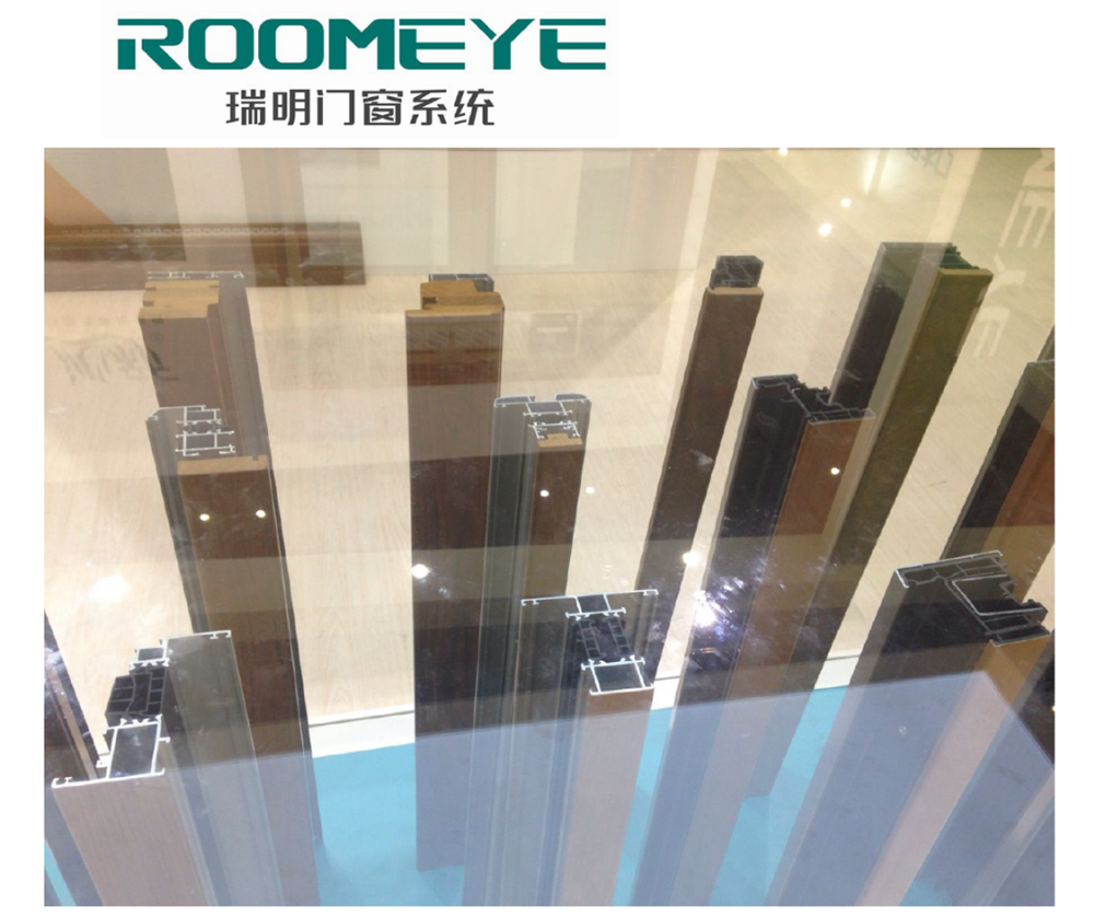 ROOMEYE modern house security tilt and turn door and window aluminum profile