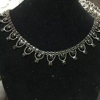Popular Whosale Stone Metal Chain Necklace