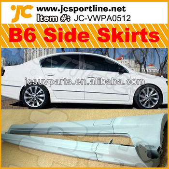 B6 R-line PU side skirts car body kits auto bumpers for VW Passat