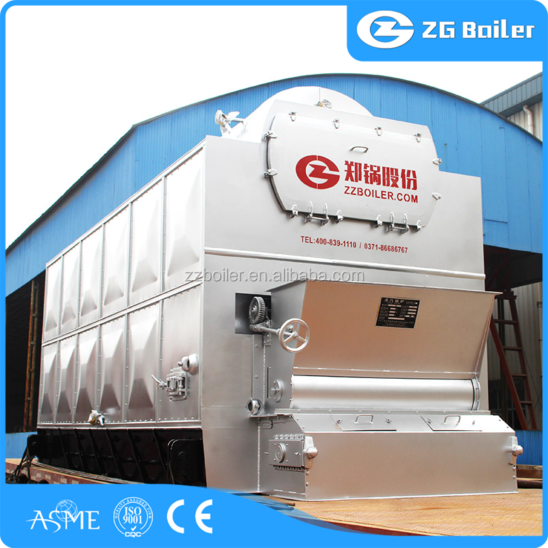 High pressure double drum steam coal boiler