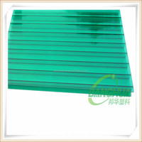 4mm 6mm 8mm 10mm transparent two wall polycarbonate hollow sheet