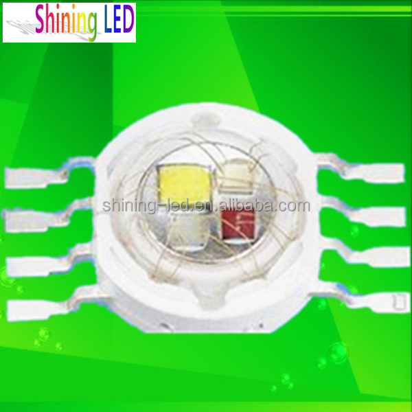 Four Channels RGB+White Full Colours 4 chips in one High Power 8W RGBW LED Chip for 20mm heatsink with Star PCB
