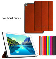 Wholesale shockproof 3 folding learther case stand tablet flip cover case for iPad Mini 4