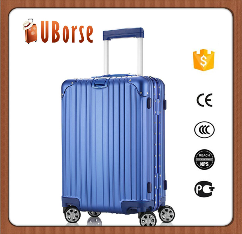 "UBORSE 100 % aluminum travel trolley hard shell luggage bags with 20 "" 25 "" 29 """