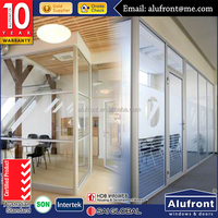 aluminium Office Partitioning System Interior Wall Partitions for Offices
