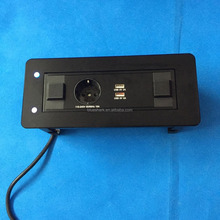 Multiple motorised table netbox power socket with Power/USB