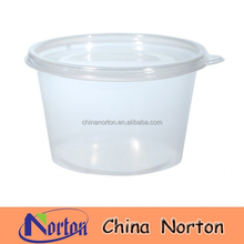 250ml /400ml/500ml/750ml /1000ml round microwaveable plastic food container with lid NTPC- 170B