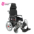 Electric reclining high back comfortable wheel chair