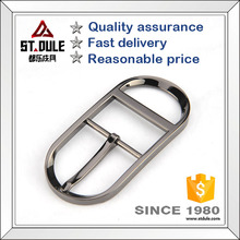 Simple item oval gun pin buckle 35mm single prong buckle for Chinese belt