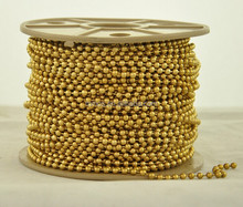 Wholesale 3.3mm Gold Plated Brass Ball Chain For Jewelry Making
