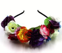 Colorful Flower Hair Band Goody Yiwu Hair Accessories For Ladies