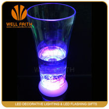 LED color changing LED lighted glass for drink,plastic led glass,glow party cups