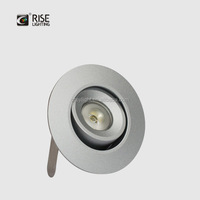 Dimmable solution led drop ceiling light 3w mini cutting hole cabinet 50mm recessed led spot light
