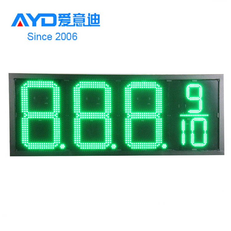 Green Color 7 Segment LED Display. Electronic LED Price <strong>Sign</strong>