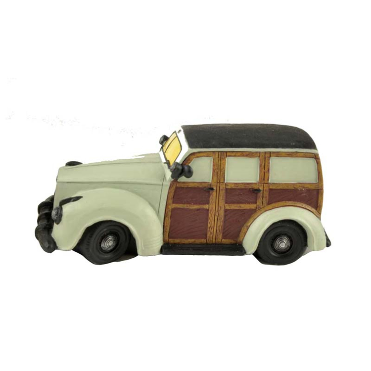 Small resin antique wecker beat-up car model for collection