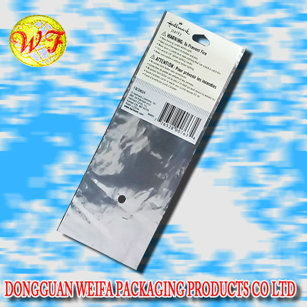 Long Silver Bag for Book Marks Packaging Bag in Silver or any colour for bag packaging