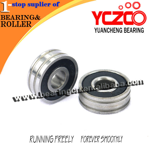 magnetic bearings stainless steel double acting door bottom roller bearing 606-7