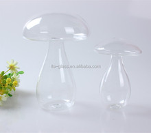 Factory Direct Clear Glass Christmas Decoration Mushroom For Tree Hanging Ornament